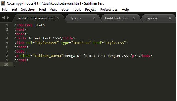 mengatur font,hyperlink,dan mengatur format text – Developer Webmaster